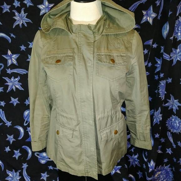 Full Tilt Other - Army green hooded jacket Girl's Xl fulltilt